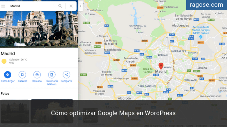 Optimizar Google Maps WordPress