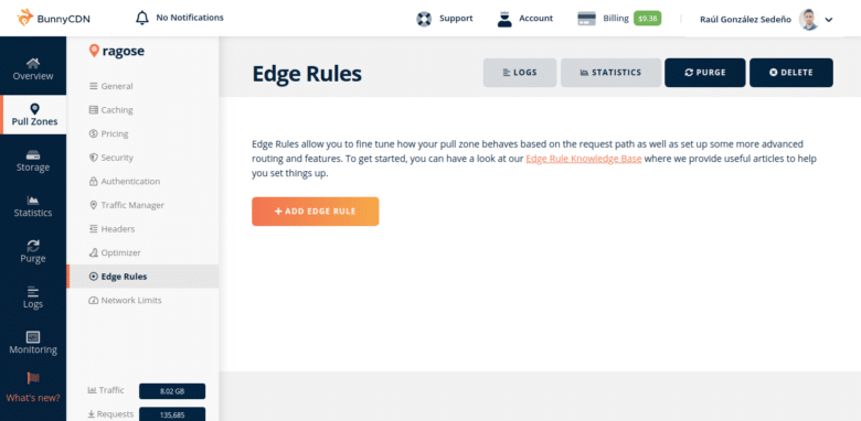 BunnyCDN Edge Rules