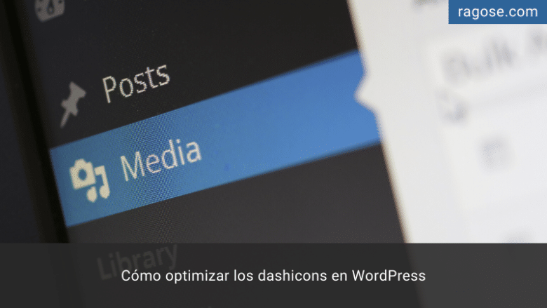Optimizar dashicons WordPress