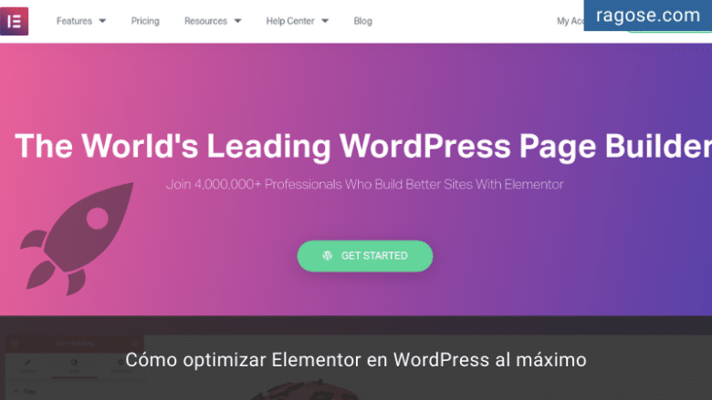 Optimizar Elementor WordPress
