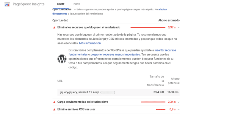 JQuery PageSpeed