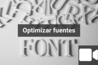 Webinar optimizar fuentes
